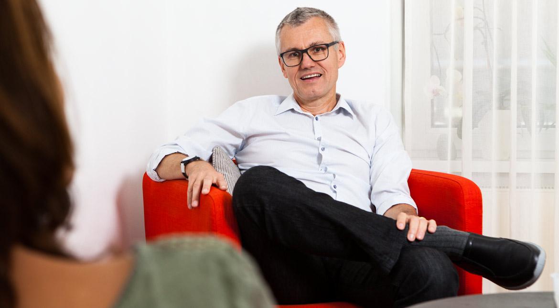 Portrait von Psychotherapeut Michael Schiefermair